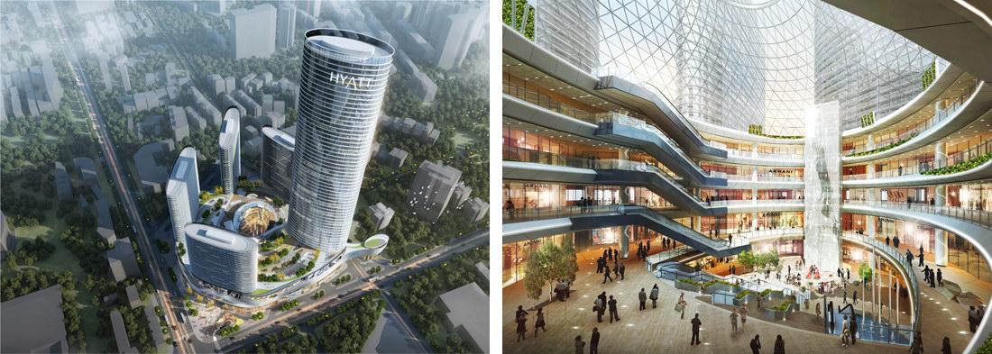 由英国著名建筑设计公司凯达环球担纲设计,成就城市新地标.